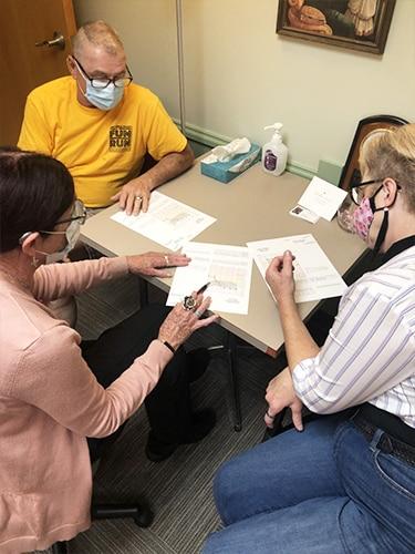 Debra consulting patients